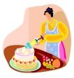 עקרת בית אופה ומקשטת עוגה- מלימודי קונדטוריה