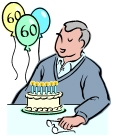 בן 60 חוגג יום הולדת עם עוגות מעוצבות