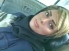 Busty amateur Libyan girl didnt expect that her boyfriend was going to cum on her face, after arab sex