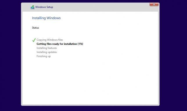 windows 10 installing